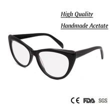 Sorbern NEW Women Luxury Cat Eye Eyeglasses Spectacles Glasses Handmade Frames Optical Myopia Eyewear Female Oculos De Grau