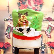 Christmas Santa Claus Chair Back Cover