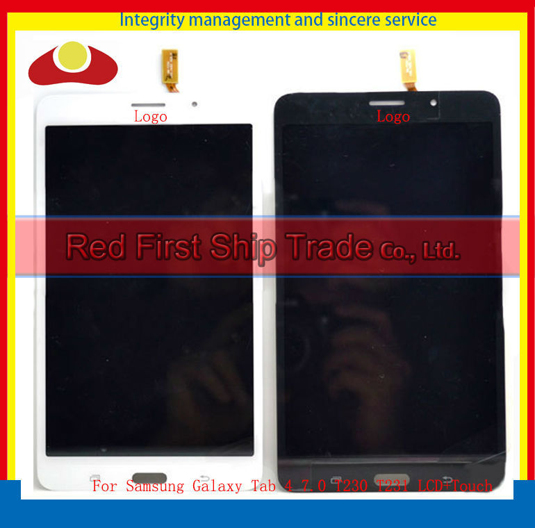 High Quality For Samsung Galaxy Tab 4 7.0 T230 T231 Wifi Touch Screen Digitizer+LCD Display Assembly Complete White Black