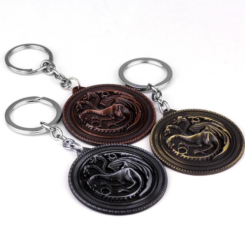 Game of Thrones Pendant Keychain Wallet-chain Collection – House Stark Targaryen Red Dragon Direwolf Lannister Lion Chaveiro