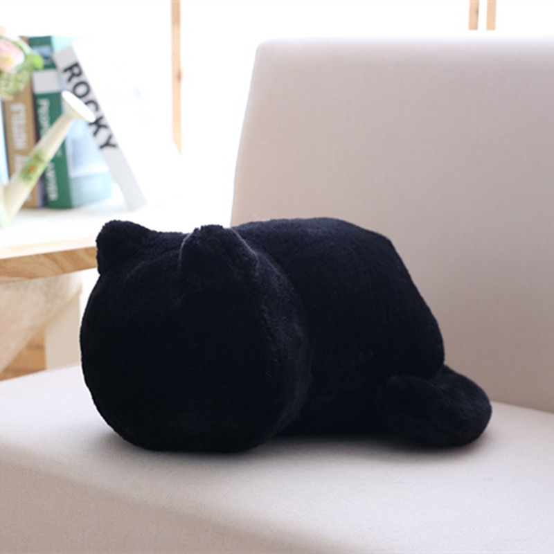 QWZ Kawaii Plush Cat Toys Cute Shadow Cat Dolls Kids Gift Doll Lovely Staffed Animal Toys 3 Colors Home Decoration Soft Pillows