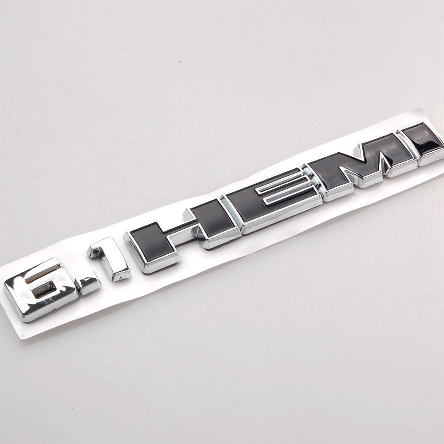 ABS 6.1 HEMI Logo Nameplate Emblem Badge Sticker Fit For Dodge Challenger Charger Jeep Cherokee Patriot Car Styling Accessories лодка intex challenger k1 68305