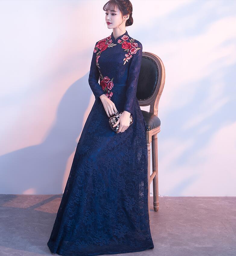 Haute qualité femmes robes style chinois design personnalisé A004