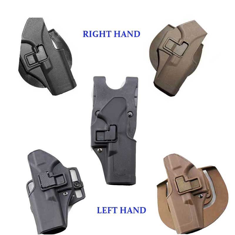 US $9 54 20% OFF|Glock Right Hand + Left Hand Military Glock holster  Tactical Hunting Airsoft Gun Holsters for Pistol Glock 17 22 23 LV3-in  Holsters
