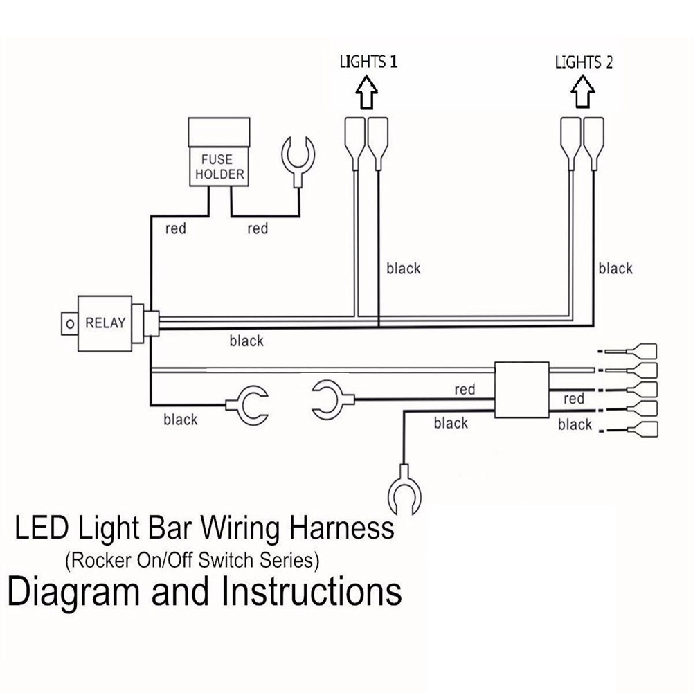 2016 Brand New 12 24V LED LIGHT BAR ON/OFF LASER ROCKER SWITCH RELAY ...