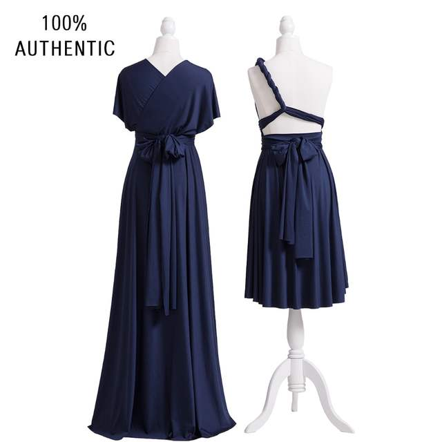 98b1172bfe37d Navy Blue Bridesmaid Dress Infinity Maxi Long Dress Multiway Dress  Convertible Wrap Dress With Sleeves Style-in Bridesmaid Dresses from  Weddings & Events on ...
