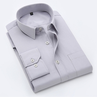 Men Shirt Luxury Brand 2017 Male Long Sleeve Shirts Casual Mens Solid Color Shirt Slim Fit