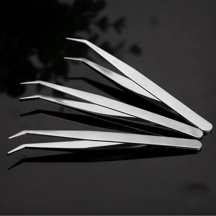 ZtDpLsd 1Pcs Straight Elbow Stainless Steel Tank Tweezers Pliers Aquarium Tool Fish Aquatic Plants Forceps Clip