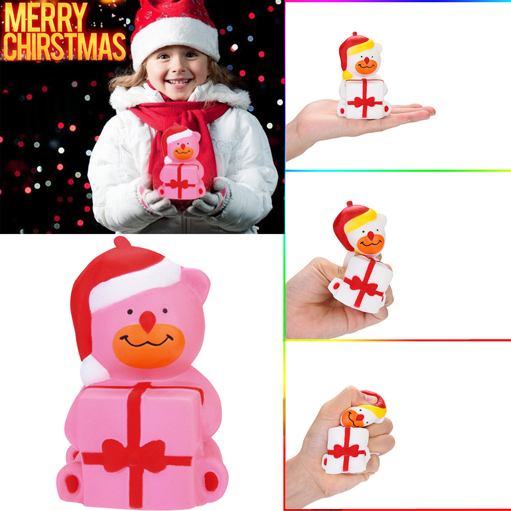 Christmas Bear Scented Squishies Slow Rising Kids Toys Stress Relief Toys Props High Quality W705