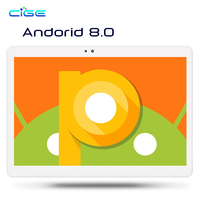 Tablet PC 10.1 inch Android 8.0 3G 4G Dual SIM Call Phone Tablets PC Octa Core IPS 4GB Ram 32GB 64GB Rom Wi Fi GPS Tablets PC