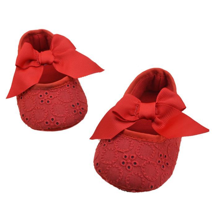 TELOTUNY Crib-Shoes Flower-Prewalker Soft-Bottom Anti-Slip Infant Girls Cotton Ribbon