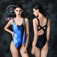 CATTLEYA 2016 New One Piece Swimsuit Professional Swimwear Women Competitive Swimming Suit Solid Racing Suit Sports
