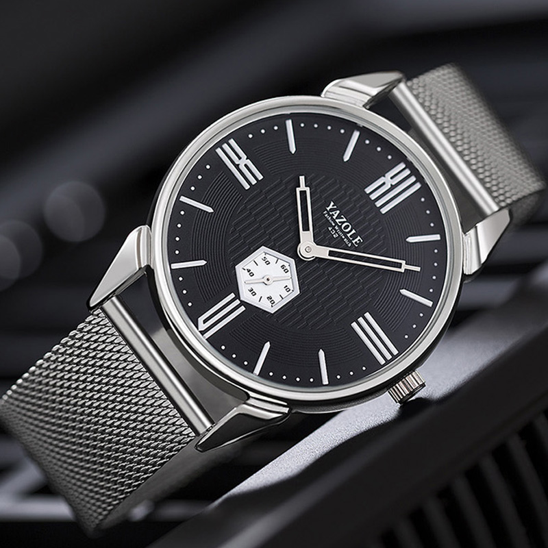 YAZOLE 2018 New Watch Men Top Brand Luxury Stainless Steel Wrist Watches For Men Male Clock Quartz Wristwatch Relogio Masculino блесна siweida swd 8001 55mm 6g 3531342 03