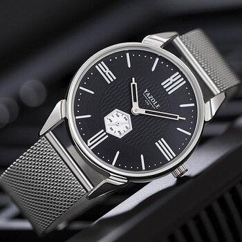 YAZOLE 2019 นาฬิกาผู้ชายแบรนด์หรูนาฬิกาข้อมือสแตนเลสสตีลนาฬิกาสำหรับชายนาฬิกาควอตซ์นาฬิกาข้อม...