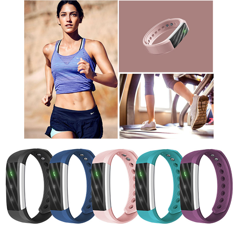 Portable Bluetooth Smartband Activity Fitness 4.0 Fit Bit Tracker Sport Bracelet Smart Band Wristband Pedometer For IOS Android ...