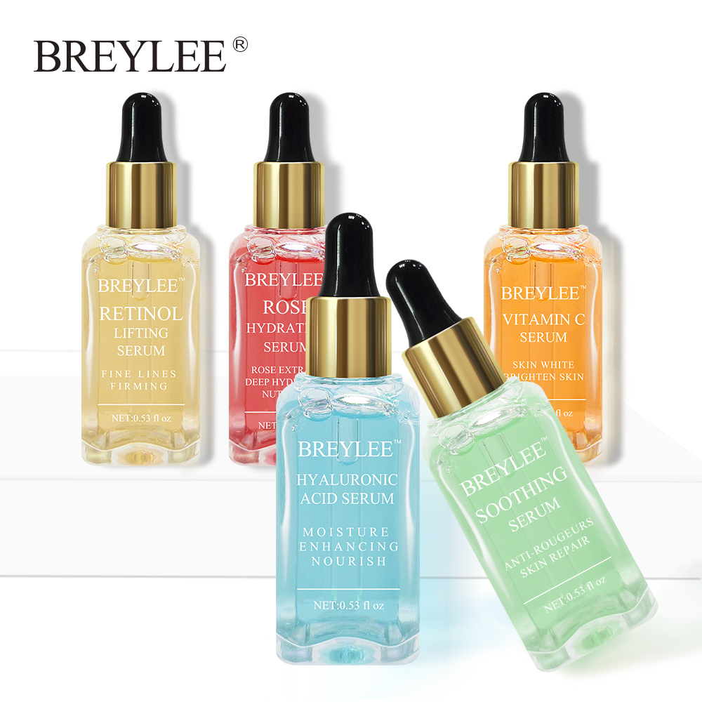 BREYLEE 5 Style Serum Pure Hyaluronic Acid/Pure Rose/Vitamin C/firming Lifting/Repairing Serum For Face Eye Skin Treatment