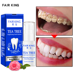 Tea Tree Teeth Whitening Essence Powder Oral Hygiene Cleaning Serum Removes Plaque Stains Tooth Bleaching Dental Tool Toothpaste