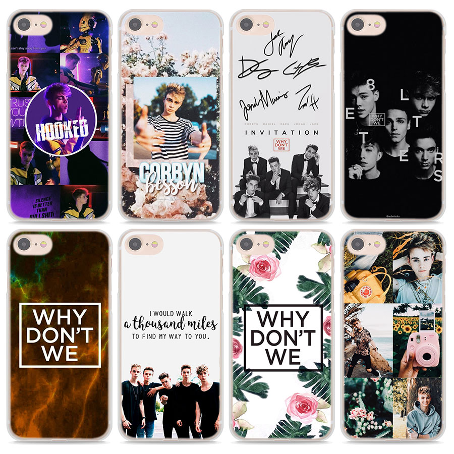 Why Dont Do Not We WDW Phone Cases for Apple iPhone 7 8 Plus 5 5s 6 6s Plus X XS XR XS MAX Hard protective Case cover in Half wrapped Cases from Cellphones Telecommunications