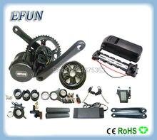 High power 8Fun/Bafang BBS01 36V 350W mid drive motor kits with 36V 14.5Ah USB down tube battery for fat tire bike/city bike