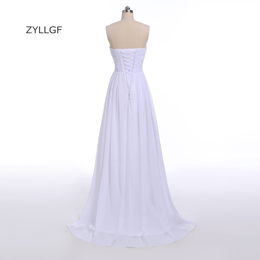 ZYLLGF plašt duša šifon djeveruša haljina duljina poda izlizati - Vjenčanje večernje haljine - Foto 2