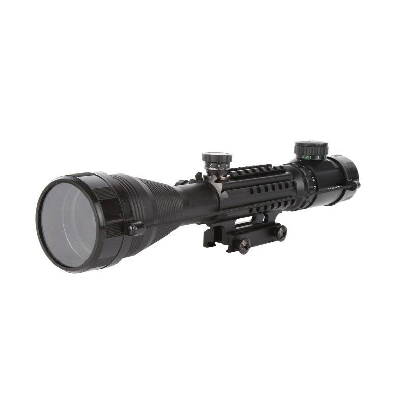 Waterproof Anti-fog 4-16X50 White Letter Marking Optics Riflescope Red And Green Reticle Fiber Optic Sight Sniper Hunting Scope
