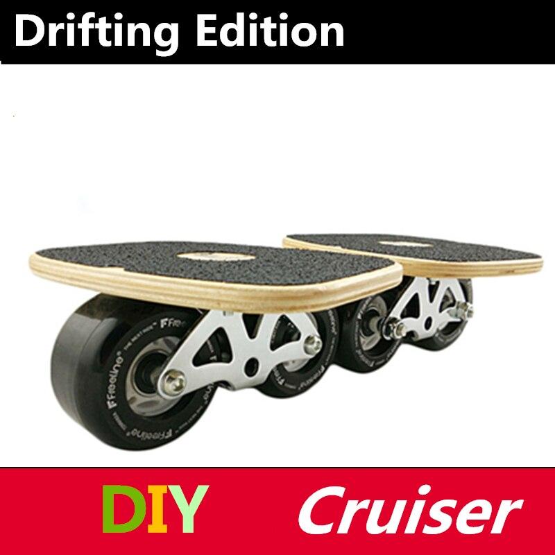 Planche de dérive pour joueur de Driftboard Freeline, planche d'érable du Canada avec roue en polyuréthane, pour adultes professionnels