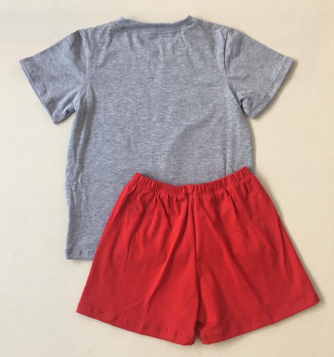 Bordado T-shirt Com shorts de Algodão Boutique Kids Clothing Verão