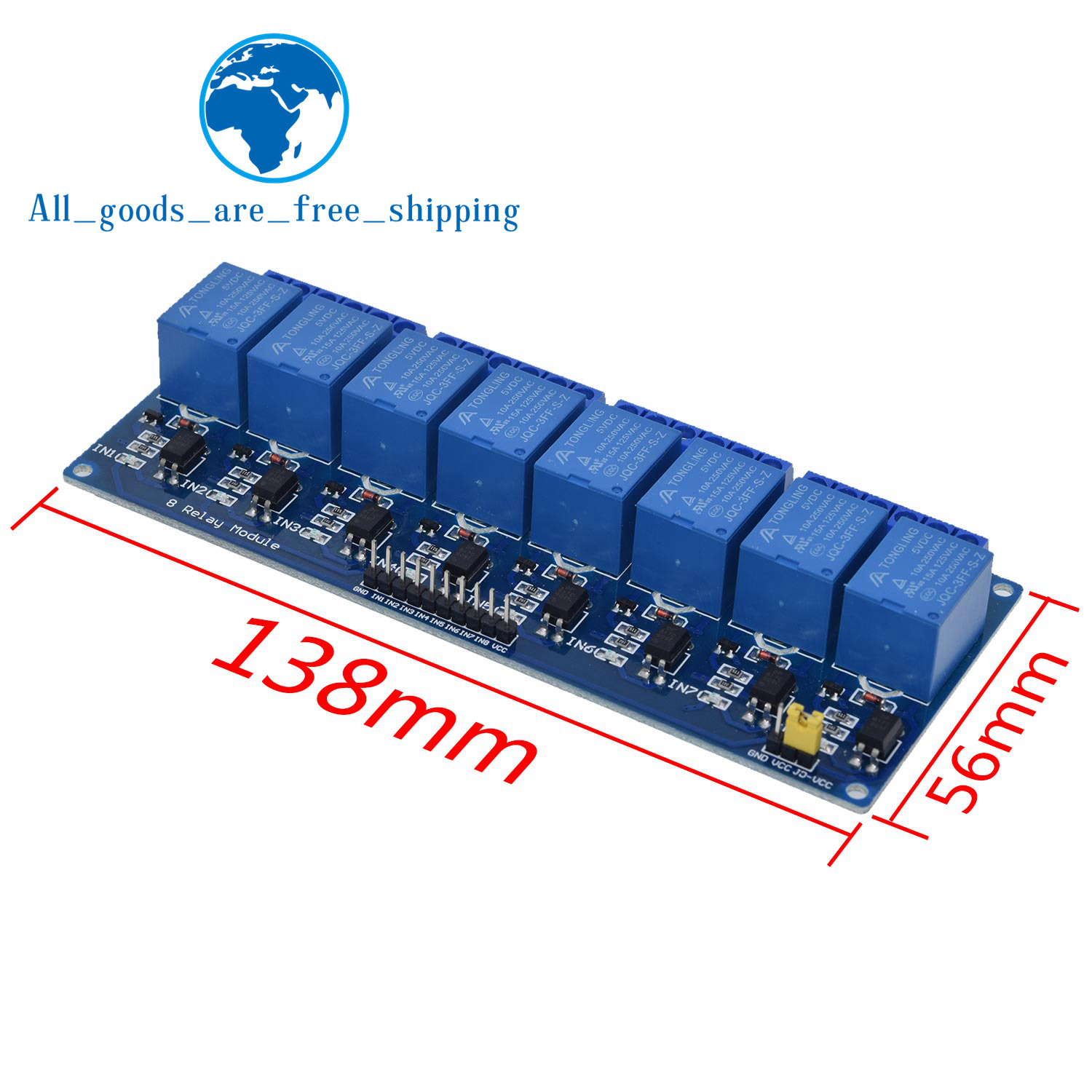 TZT 1pcs 5v 12v 1 2 4 6 8 channel relay module with optocoupler. Relay Output 1 2 4 6 8 way relay module for arduino In stock 10