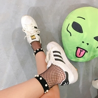 Unif жемчуг Бисер Fishnets Mesh Черный Носки для девочек для Для женщин бутик носки до лодыжки хорошее эластичные мягкие короткие носки Высокое кач...