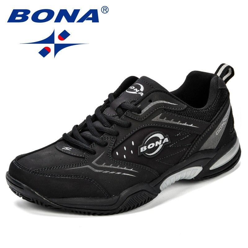 BONA nouveauté classiques Style hommes chaussures de Tennis en cuir hommes chaussures de sport en plein air Jogging baskets chaussures livraison gratuite rapide - 3