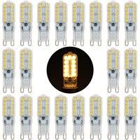 20PCS 220V G9 LED Lamp 3W SMD 2835 G9 LED Bulb Milky/Transparent 360 Beam Angle Lights Replace 30W 40W Halogen Crystal Spotlight