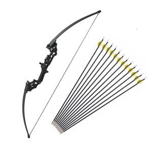 Image 1 - Profissional arco recurvo 40 libras tiro com arco de caça tiro com arco americano setas de caça para novo iniciante a especialista