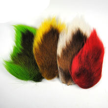 Fly Tying Northen Bucktail di Capelli Cervi Per La Trota Salmonata Mosche Jig Hook Treble Spogliatoio Baitfish Legatura Materiale Verde Bianco Rosso(China)
