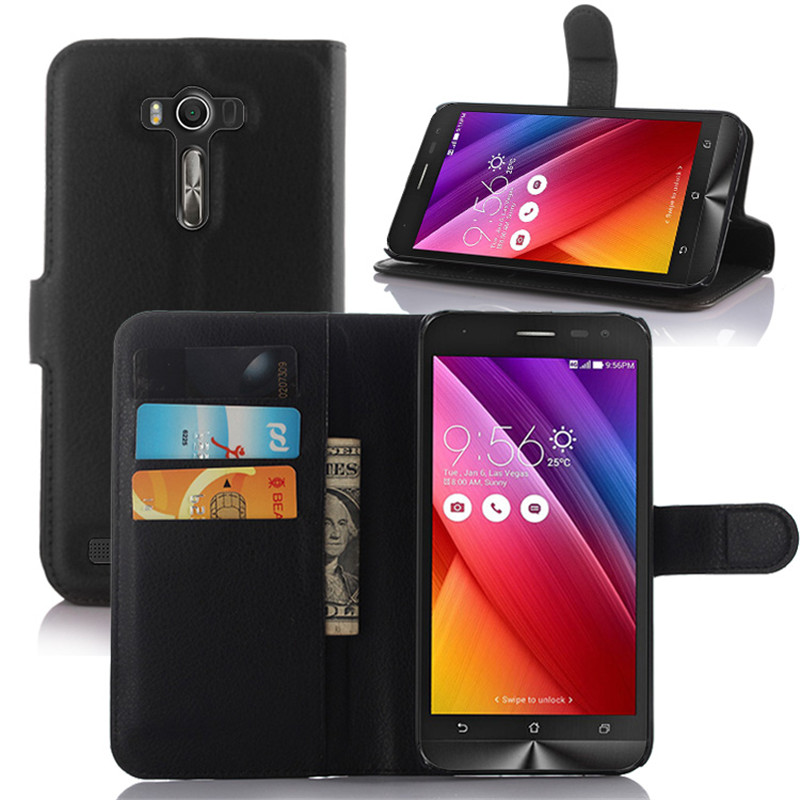 Case For Asus ZenFone 2 Laser ZE500K Luxury Wallet PU Leather Case For Asus ZE500K Stand Flip Card Hold Phone Cover Bags