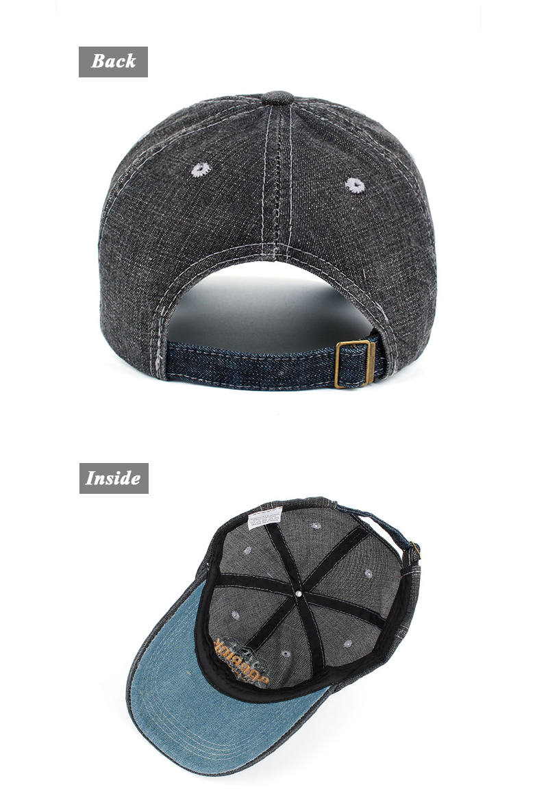 """Embroidered """"Capricorn"""" Baseball Cap - Rear and Inside Views"""