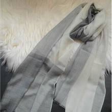 100%Cashmere Light Gray Scarf Thin Womens Fashion Wrap High Quality Natural Fabric Extra Soft Warm 9-15Days Delivered