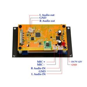 Image 5 - Czarny tekst pokaż LCD pojemnościowy ekran dotykowy pilot zdalnego SD MP3 odtwarzacz IR moduł kontrolera USB WMA WVA FLAC LRC Bluetooth radio