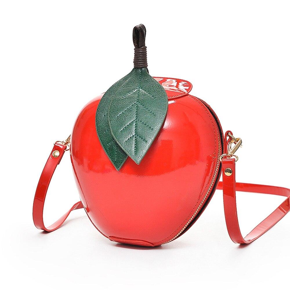 2018 New Hot Cute Cartoon Bags Apple Shape Shoulder Bag for Girls Mini Crossbody Bags Personality Purse Fashion Messenger Bag Сумка