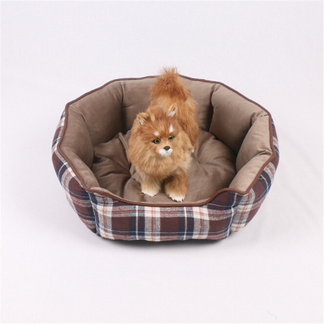 Fashion Warm Dogs Beds Pet Suppliers Two Sides Using Cotton Round Mats Small Animal Sleeping
