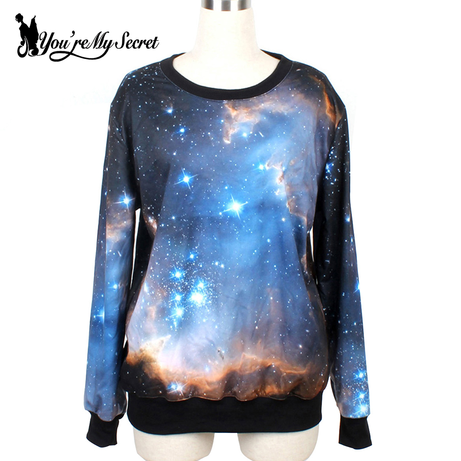 [Youre My Secret]Feminino Moletons Fashion Women Hoody Cosmic Galaxy 3D Printed Autumn S ...