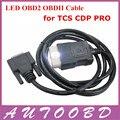 Mais novo! Transporte rápido Auto CDP + LED OBD2 OBDII cabo CDP Plus 3in1 LED OBD cabo para TCS CDP