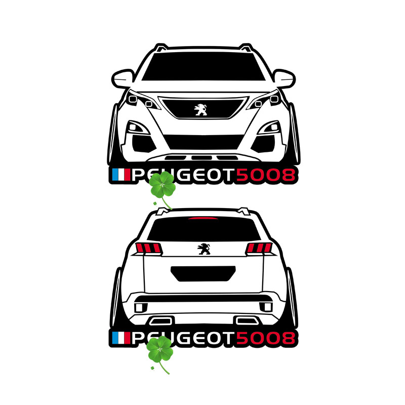 De Para Taiyao Deporte 3008 Estilo Pegatina Peugeot Coche N8m0vwn
