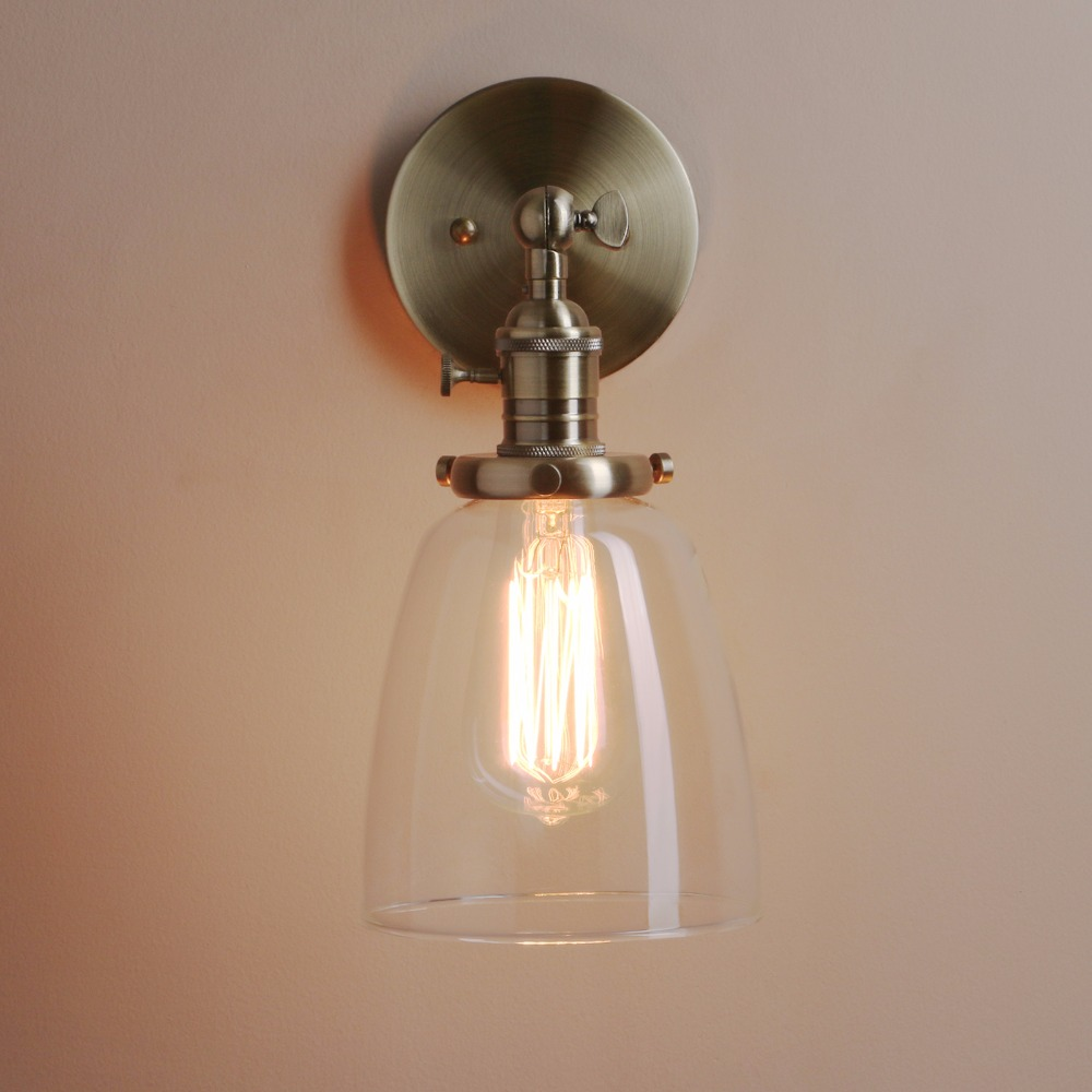 Permo retro antique brass glass bronze sconce wall light fixture permo retro antique brass glass bronze sconce wall light fixture modern vintage wall lamp e27 base new year christmas decoration in wall lamps from lights arubaitofo Gallery