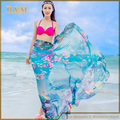 Summer Fashion Brand Mujeres Sexy Ladies Gasa Wrap Dress Sarong Beach Swimwear Cover Up Bikini Bufanda de Colores