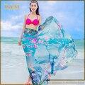 Summer Fashion Brand Sexy Women Ladies Chiffon Wrap Dress Sarong Beach Swimwear Cover Up Bikini Scarf Colorful