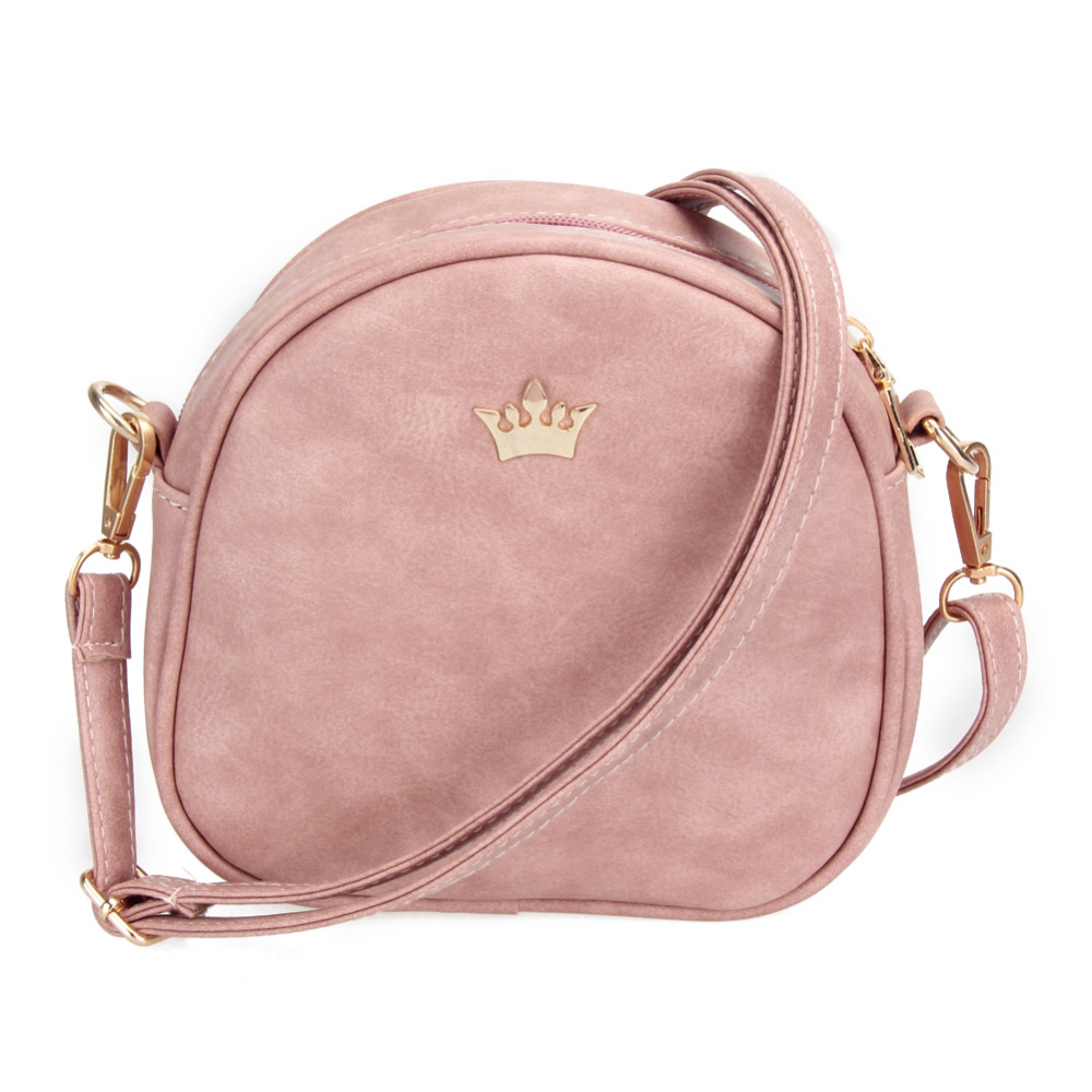 2018 New Women Bag Imperial Crown Women Messenger Bag Small Shell Crossbody Bag PU Leather Fashion Designer Handbag Phone Purse