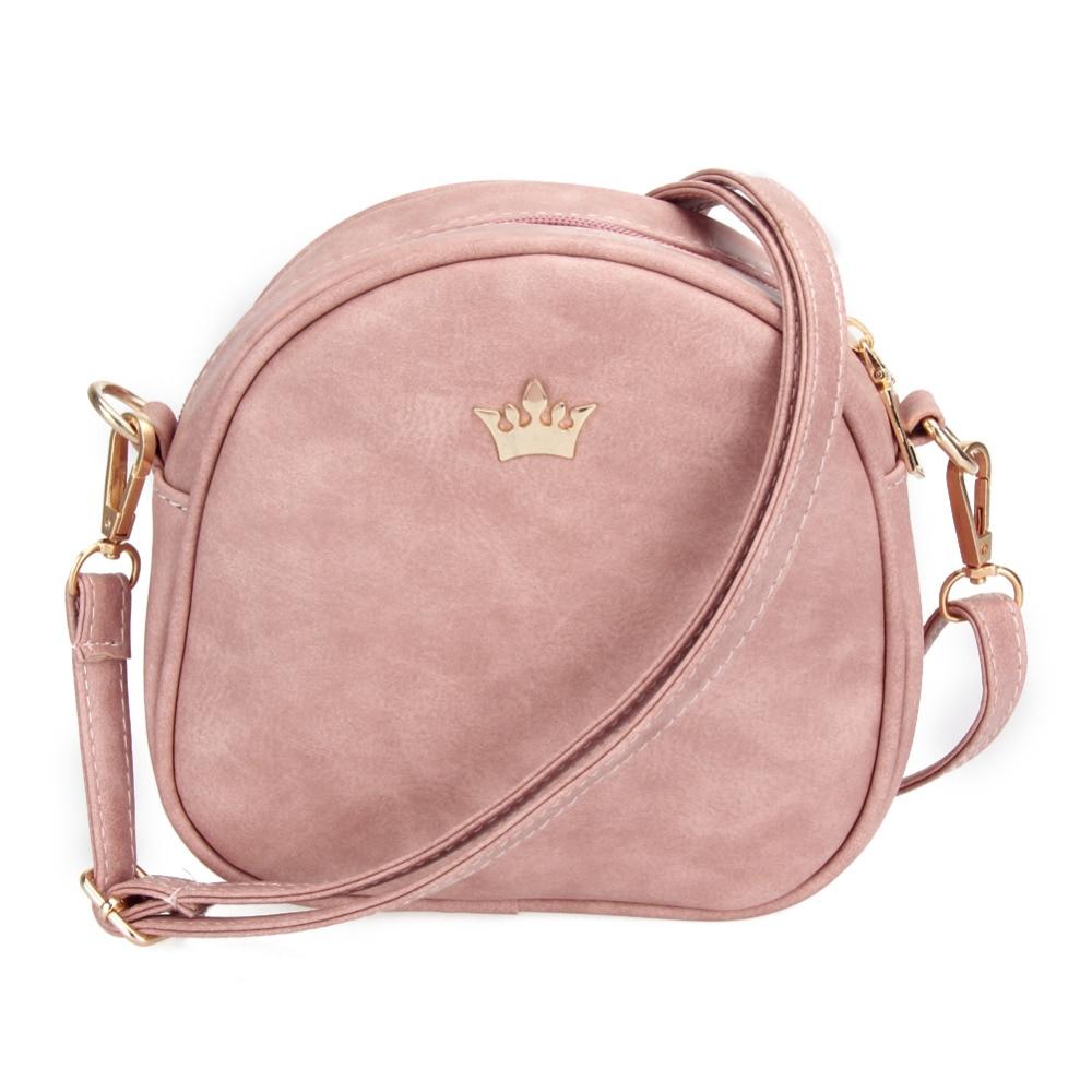 2018 New Women Bag Imperial Crown Women Messenger Bag Small Shell Crossbody Bag PU Leather Fashion Designer Handbag Phone Purse