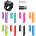 Pulseira de silicone bandas de borracha esportes cinta banda pulseira de silicone substituição para garmin forerunner 920xt assista bandas straps
