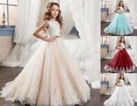 Платье с цветочным узором для девочек; пасхальное платье принцессы на выпускной; пышные Детские бальные платья