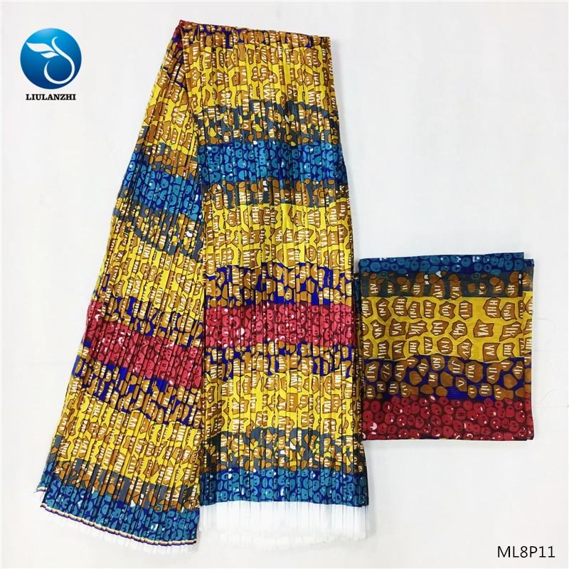 LIULANZHI cire tissu tache imprime pour robe africaine ankara tissu cire style chiffon tissu 2019 ML8P11